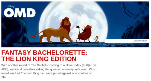 Oh My Disney Lion King ad screenshot1