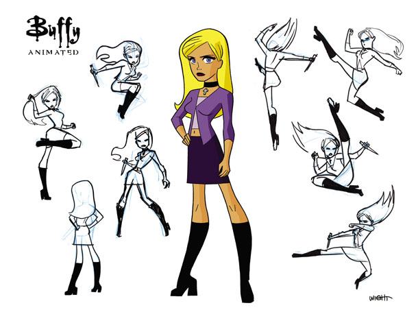 Buffy character design_animated